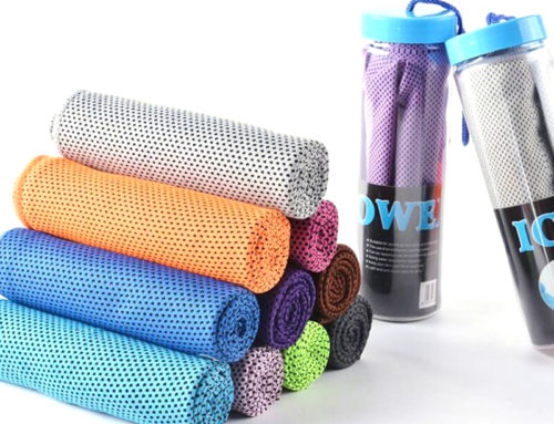 Mesh fabric microfiber running and sport best cooling towel supplier in China