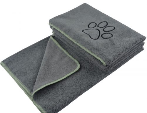Paw print towels thick soft hand feeling microfiber fabric paw dog bath towel 60x120cm