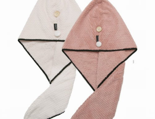 Waffle fabric thick and comfortable wholesale price hair towel wrap for women