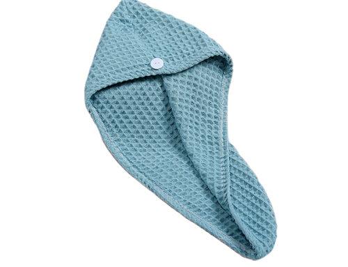 Wholesale waffle microfiber 34x65cm hair towel twist and loop manufacturer