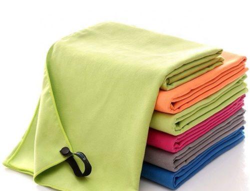 Zamszowy, szybkoschnący, lekki ręcznik z mikrofibry aquis adventure na kemping