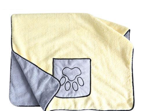 106x65cm منشفة تجفيف فائقة الامتصاص للماء من الألياف الدقيقة للكلاب بطباعة مناشف حمام